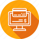 bill, computer, online, payment icon