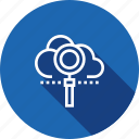 cloud, find, search, vision icon