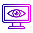 eye, review, search, see, view, vision icon