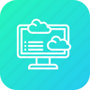analytics, cloud, computer, data icon