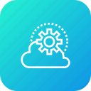 cloud, data, setting, sky icon