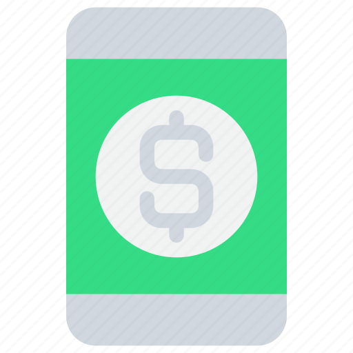 banking, mobile, online, payment, smartphone icon