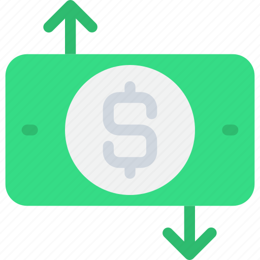banking, cash, exchange, finance, money icon