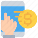 business, ecommerce, mobile, money, payment, smartphone icon