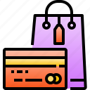 bag, card, commerce, credit, debit, payment, shopping icon