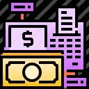 cash, cashier, economic, finance, machine, money, payment icon