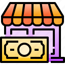 cash, commerce, money, payment, shop, shopping, store icon