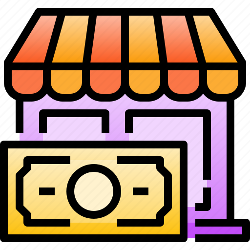 cash, commerce, money, payment, shop, shopping, store icon
