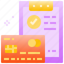 bill, card, commerce, credit, debit, financial, payment icon