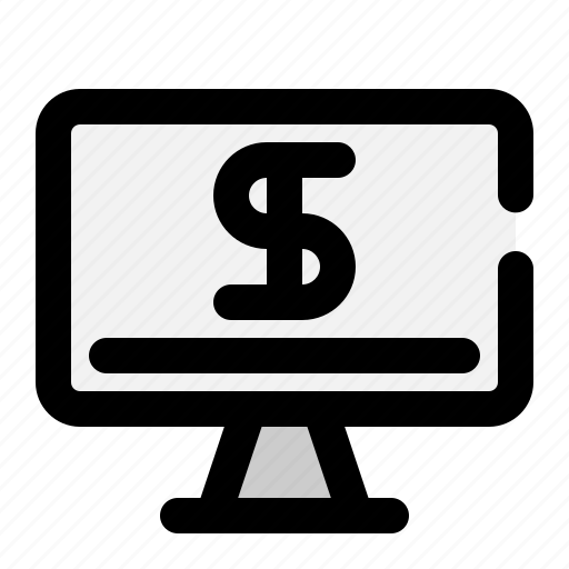 monitor, online, payment, screen icon