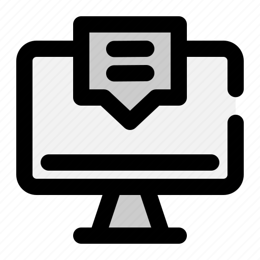 Monitor, online, screen, services, support icon - Download on Iconfinder