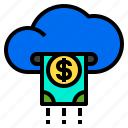 cash, cloud, dollar, money, payment