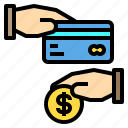 card, cash, coin, credit, hand, payment