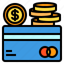 card, cash, coin, credit, money icon
