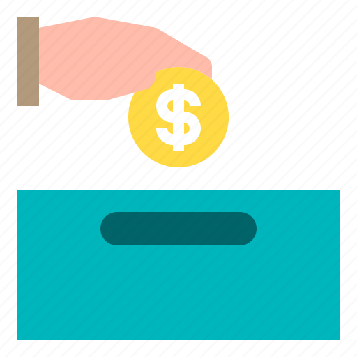 cash, coin, hand, money, payment icon