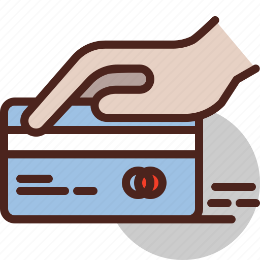 bank, card, debit, hand, pay icon