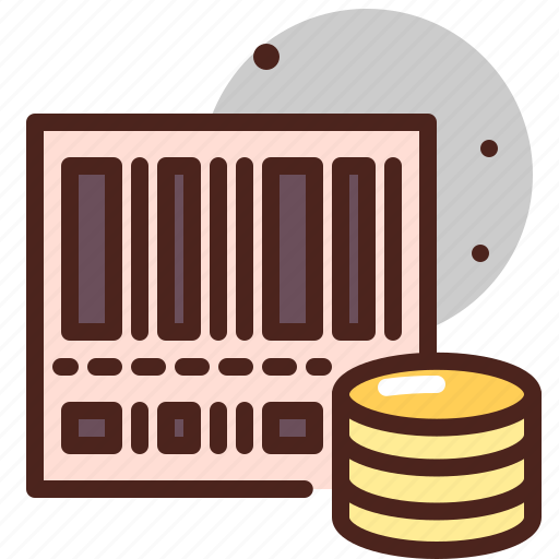 barcode, cash, coin, money, paper, pay, scan icon