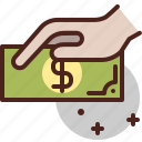 cash, money, paper, pay, payment icon