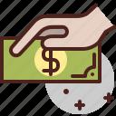 cash, money, paper, pay, payment
