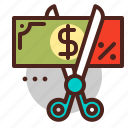 cut, discount, gift, offer, price icon
