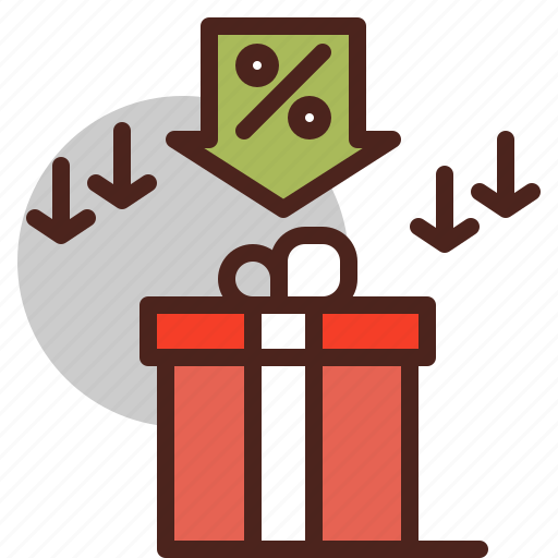 discount, gift, offer, price icon