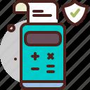 calculator, fee, finance, interest, protection icon