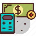 calculate, cash, money, pay icon