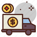 cash, delivery, money, pay icon