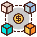 cash, dimensions, money, pay icon