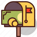 delivery, envelope, mail, money icon