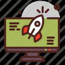 payment, rocket, transfer, urgent, web icon
