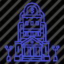 bank, building, edifice, finance, money icon