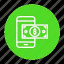 dollar, mobile, money, online, payment, phone, transaction