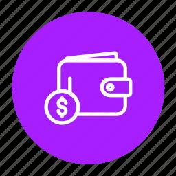 cash, dollar, money, payment, purse, wallet icon