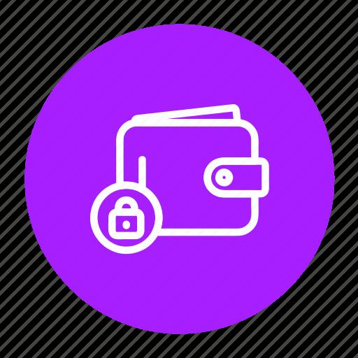 cash, lock, money, payment, purse, secure, wallet icon