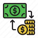 bank, exchange, money, pay, payment icon