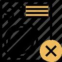 document, illegal, error, fault, billing icon