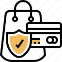 protection, purchase, security, card, customer icon