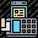 slip, machine, invoice, payment, nfc icon