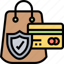 purchase, customer, protection, security, card icon
