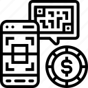digital, payment, scanning, qr, code icon