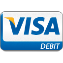 business, buy, card, cash, checkout, credit, debit, donate, financial, income, offer, online, order, payment, price, sale, service, shopping, visa, visa debit icon