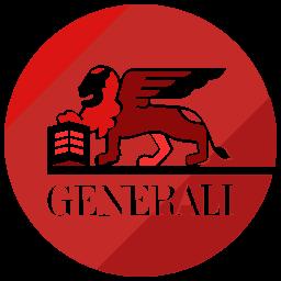 finance, generali, logo icon