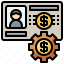 account, bank, business, card, finance, id, preference icon