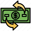 business, circular, commerce, exchange, finance, money, shopping icon