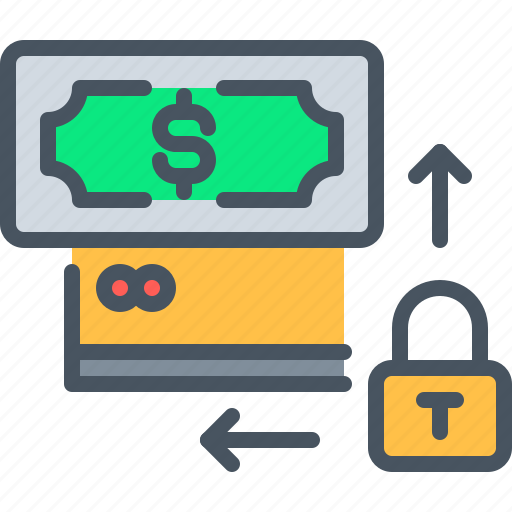 app, interface, lock, money, payment, security, ui icon