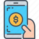 app, dollar, interface, money, online money, online payment, ui icon