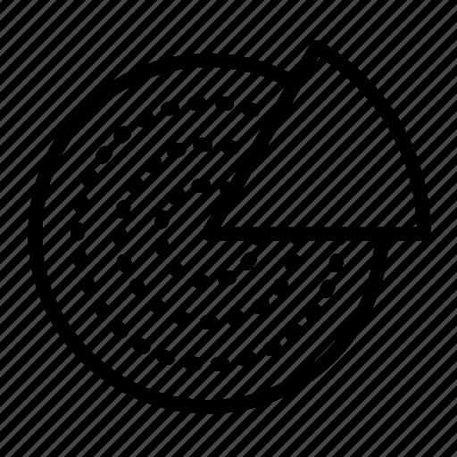 compare, data, diagram, pie, round diagram icon