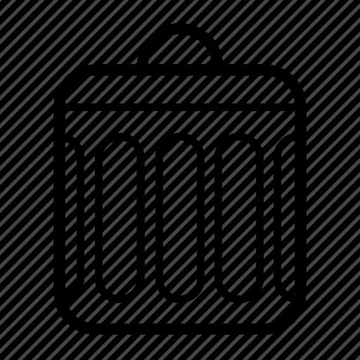 delete, remove, trash, trash bin, trash can icon