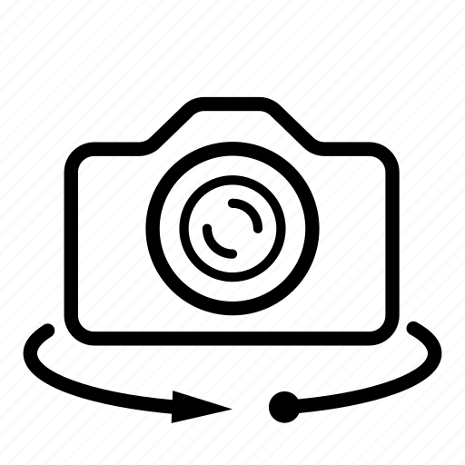 360 view, camera, panorama, rotate, view icon
